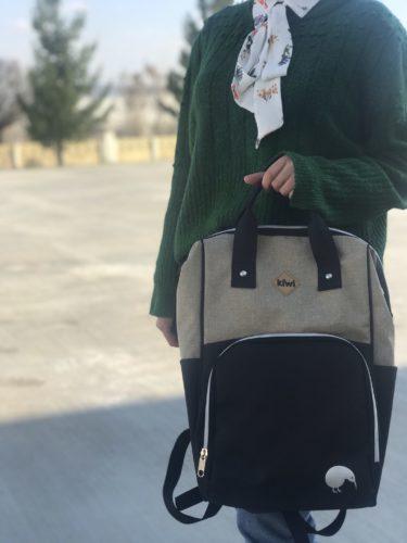 Kiwi T-Bag Anne-Bebek Bakım Sırt Çantası-Kahve photo review