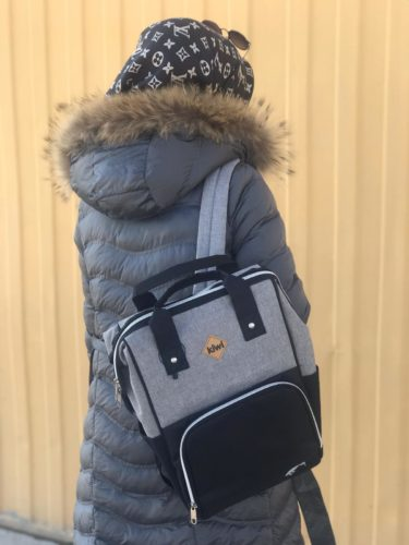Kiwi T-Bag Anne-Bebek Bakım Sırt Çantası-Gri photo review