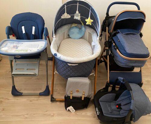 Kiwi 4x4 Yeni Doğan Paketi | CityWay Bebek Arabası + Koala Mama Sandalyesi + Sleeper Beşik + T-Bag Çanta | (Kiwi Oyun Arkadaşı Hediye) Blue photo review